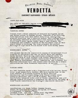 Francis Coppola - Vendetta 'Red Blend'